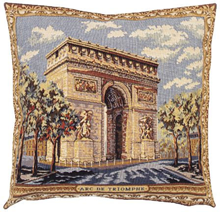 Arc de triomphe ii city view tapestry cushion cover for European home collection