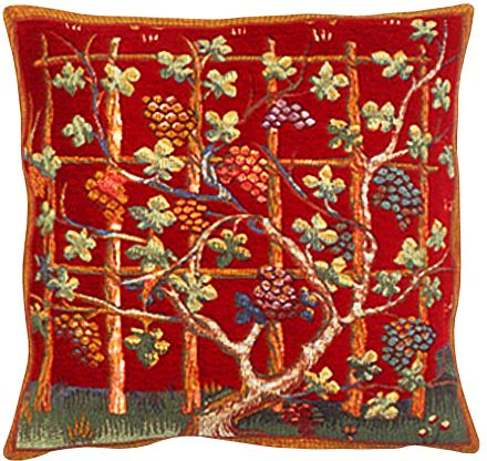 Automne II Tapestry Cushion Cover - European Home Decor Collection, 18in x 18in cushion cover