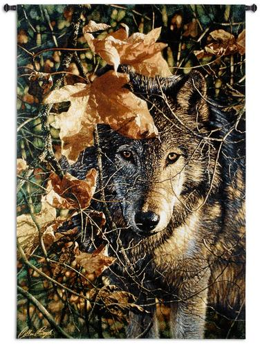 Autumn Eyes Tapestry Wall Hanging, 52in x 37in - Wild Life Picture