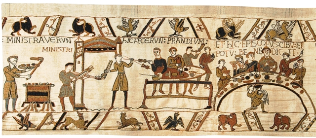 Bayeux Banquet II Tapestry Wall Hanging, 17in x 41in
