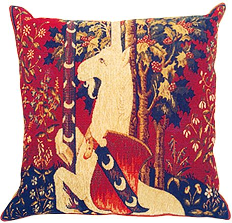 Dame A La Licorne III Tapestry Cushion Cover - Cluny Home Decor Collection, 18in x 18in cushion cover