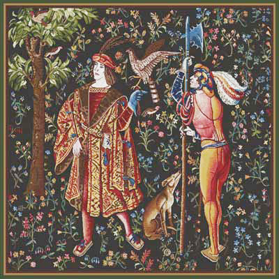 Falconer Mille Fleur Tapestry Wall Hanging, 32in x 32in