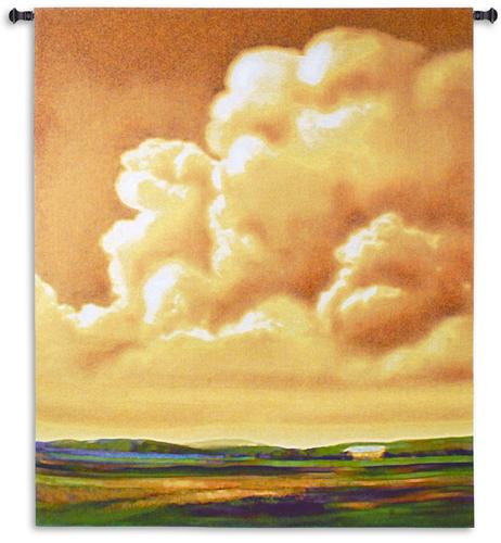 Golden Hour Tapestry Wall Hanging, 65in x 52in - Contemporary Landscape