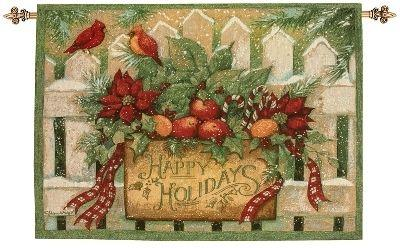 Happy Holiday Wall Hanging, 26inx36in - Winter Holidays D?cor Idea