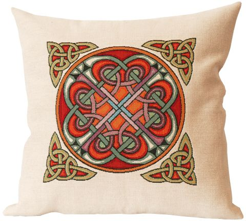 Hilton Celtic Design Tapestry Cushion Cover European Home Decor Collection Cushion Cover H18 X W18