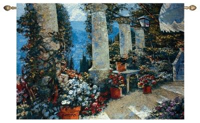 Hotel Capri Waterfront Terrace Tapestry Wall Hanging, 53in x 35in