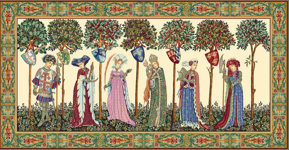 La Manta Medieval Tapestry Wall Hanging, 28