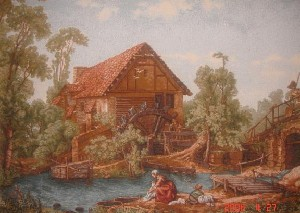 Landscape Of Holland Old World Rural Scene Tapestry Wall Hanging - Countryside Picture, 45in x 33in