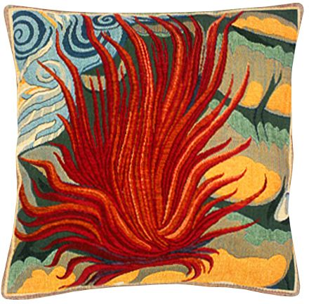 Le Feu Tapestry Cushion Cover - European Home Decor Collection, 18in x 18in cushion cover