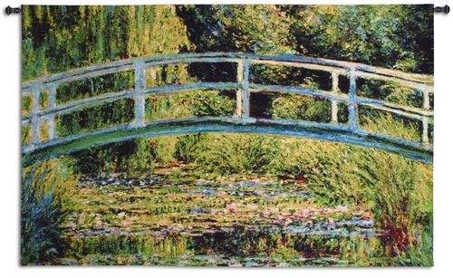 Le Point Japonais Impressionist Tapestry Wall Hanging - Monet's Reproduction, 63in x 30in