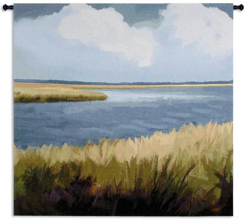 Low Country Impressions Tapestry Wall Hanging, 53in x 53in - Contemporary Landscape