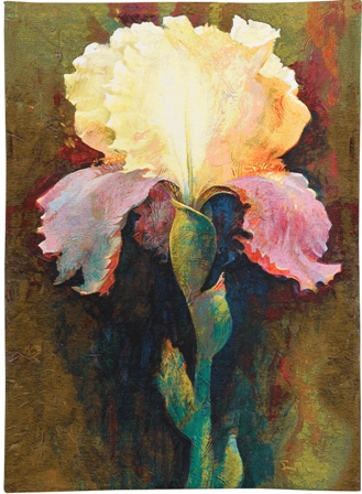 Lydia Contemporary Floral Tapestry - from the art work of Simon Bull, 51in x 37in