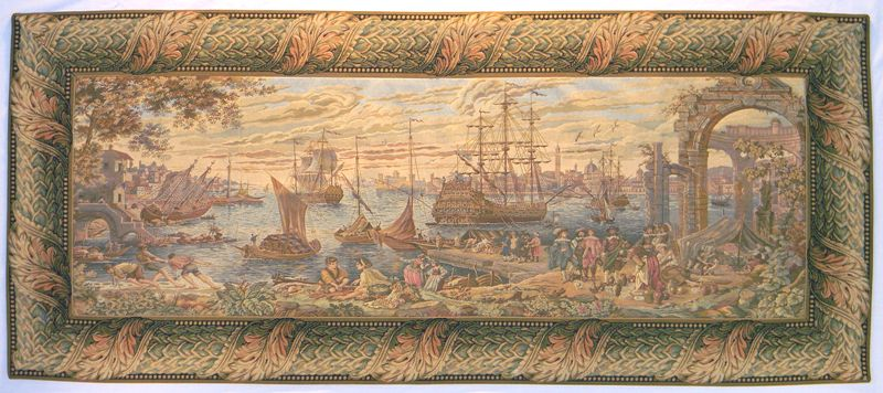 Marina Tapestry Wall Hanging - European Home Decor Collection, 29in x 65in