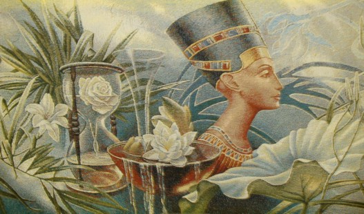 Nefertiti Queen Of Egypt Historical Tapestry Wall Hanging - Beautiful Lady Portrait, 35in x 20in