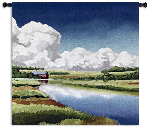 Norfolk Broads Tapestry Wall Hanging, 31in x 31in - Contemporary Landscape