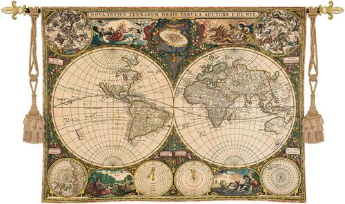 Map tapestries old world map tapestry wall hanging 53 x 38 gumiabroncs Gallery