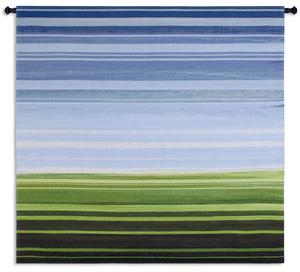 One's Perspective Tapestry Wall Hanging, 53in x 53in - Contemporary Landscape