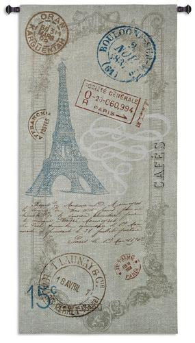 Paris Metro Tapestry Wall Hanging, 64in x 31in - Retro Style