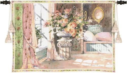 Romantic Moments Tapestry Wall Hanging, 38in x 53in - Interior Scene