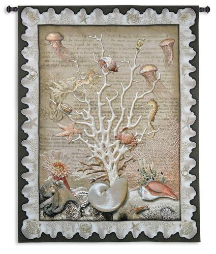 Sea of Life Tapestry Wall Hanging, 67in x 52in - Tree Of Underwater Life