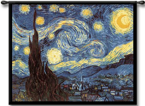 Impressionist Tapestry Wall Hangings Monet Van Gogh Art