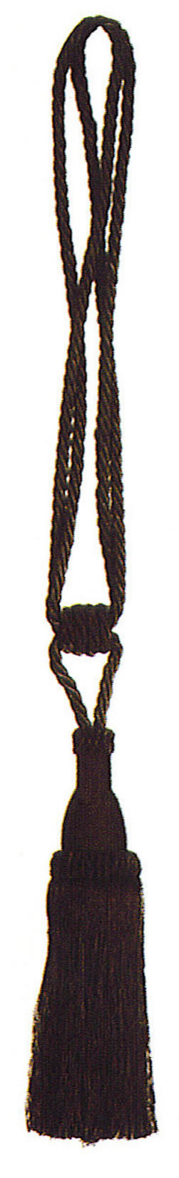 Tassels (1 pair) - Black, 7inx3in