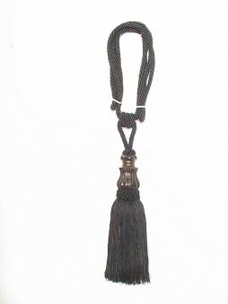 Tassels Elegance (1 pair) - Black, 11inx3in