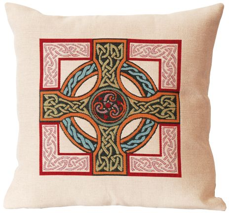 Triskel Celtic Design Tapestry Cushion Cover - Classic Home Decor ...