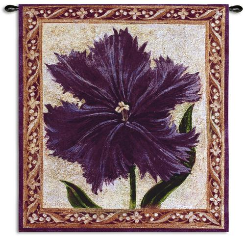 Tulip Unveld I Tapestry Wall Hanging - Botanical Design, 27in x 30in