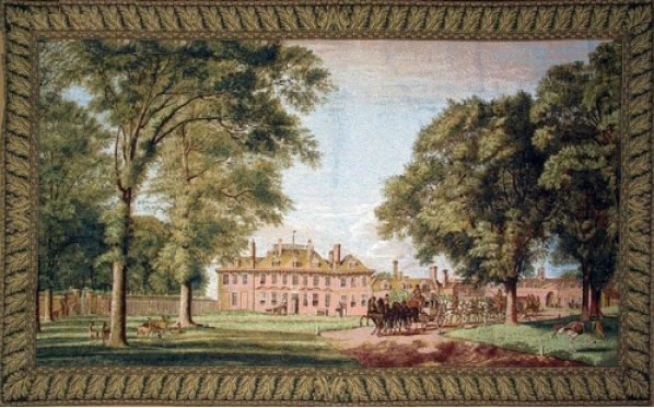Windsor Park Classic Landscape Tapestry Wall Hanging - Castle Scene, 72in x 44in